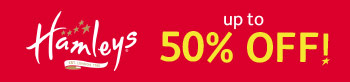 50% off at Hamleys